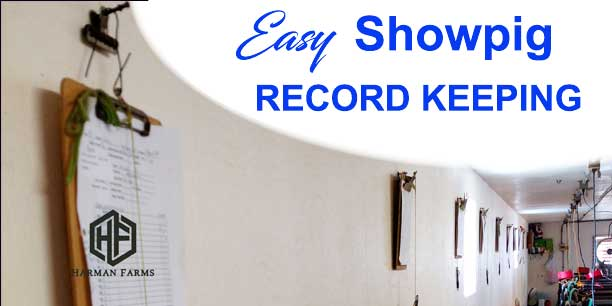 Show Pig Record Keeping Made Easy