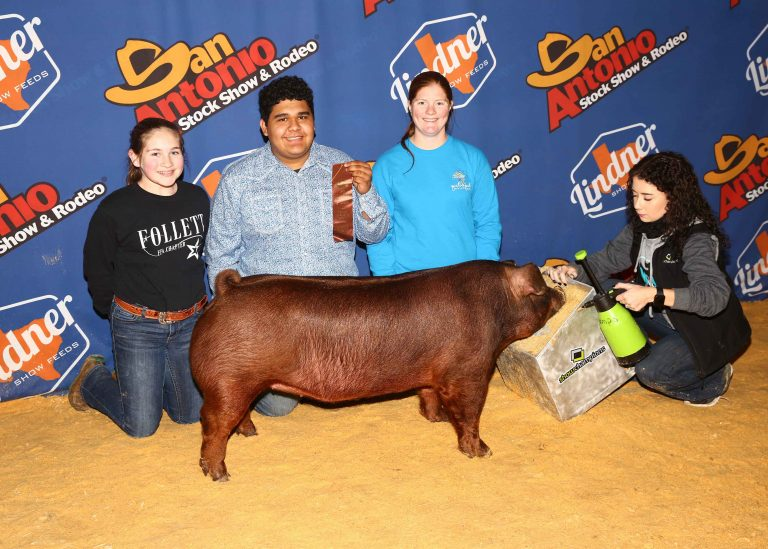 Placing Duroc Gilt San Angelo